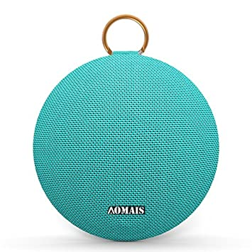 AOMAIS Ball Bluetooth Speakers,Wireless Portable Bluetooth 4.2,15W Superior Sound with DSP,Stereo Pairing for Surround Sound,Waterproof Rating IPX7,for Sports,Travel,Shower,Beach,Party Turquoise