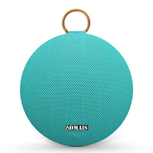 AOMAIS Ball Bluetooth Speakers,Wireless Portable Bluetooth 4.2,15W Superior Sound with DSP,Stereo Pairing for Surround Sound,Waterproof Rating IPX7,for Sports,Travel,Shower,Beach,Party (Turquoise)