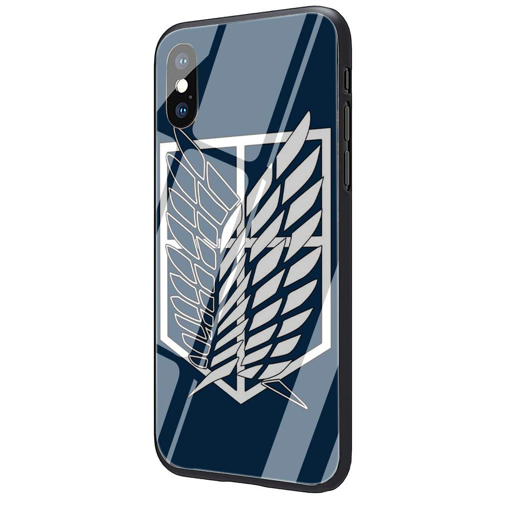 iphone xs max tempered glass case attack on titan