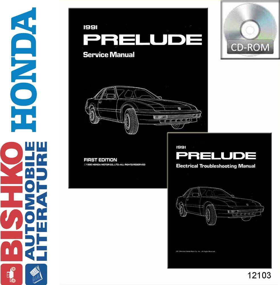 Bishko Automotive Literature 1991 Honda Prelude Shop 1989 Si Wiring Diagram Service Repair Manual Cd W Etm Engine Oem