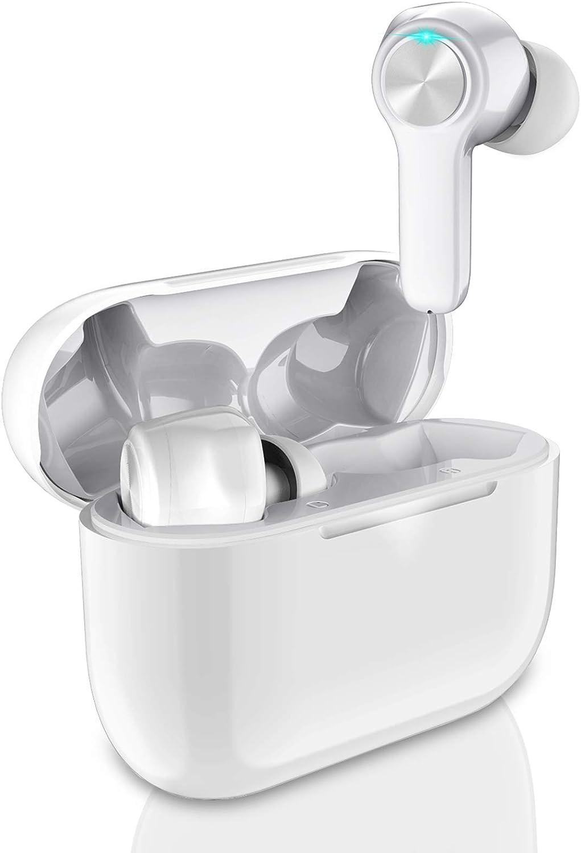 Auriculares Bluetooth 5.0 Inalámbricos Auriculares en la Oreja, 30H Playtime TWS In-Ear Estéreo Auriculares Deportivos con Hi-Fi Estéreo, con Caja de Carga y Micrófono Integrado, Control Tactil: Amazon.es: Electrónica