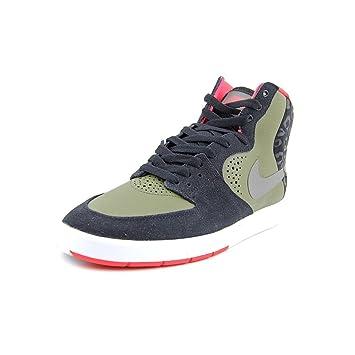 buy popular 01a73 4b576 Amazon.com  Nike SB Mens Paul Rodriguez 7 High BlackMedium OliveLaser  CrimsonMedium Base Grey 9 D - Medium  Running