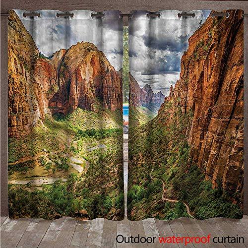 cobeDecor National Parks Home Patio Outdoor Curtain Utah Plateau Mojave W72 x L96(183cm x 245cm)