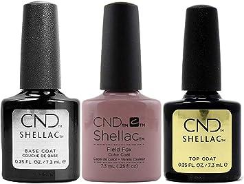 CND Shellac Field Fox - Pack de 3 Esmaltes de Gel de Uñas: Amazon.es: Belleza