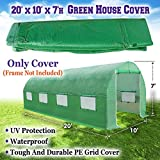 BenefitUSA Green House Replacement Spare Parts for 20'X10'X7'H Walk In Outdoor Plant Gardening Greenhouse (Cover)