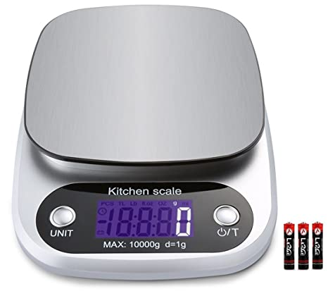 ca47b1bea101 Food scale, Digital Kitchen Scale Electronic Scale with LCD Display  Stainless Steel Kitchen Scale 22lb/10kg