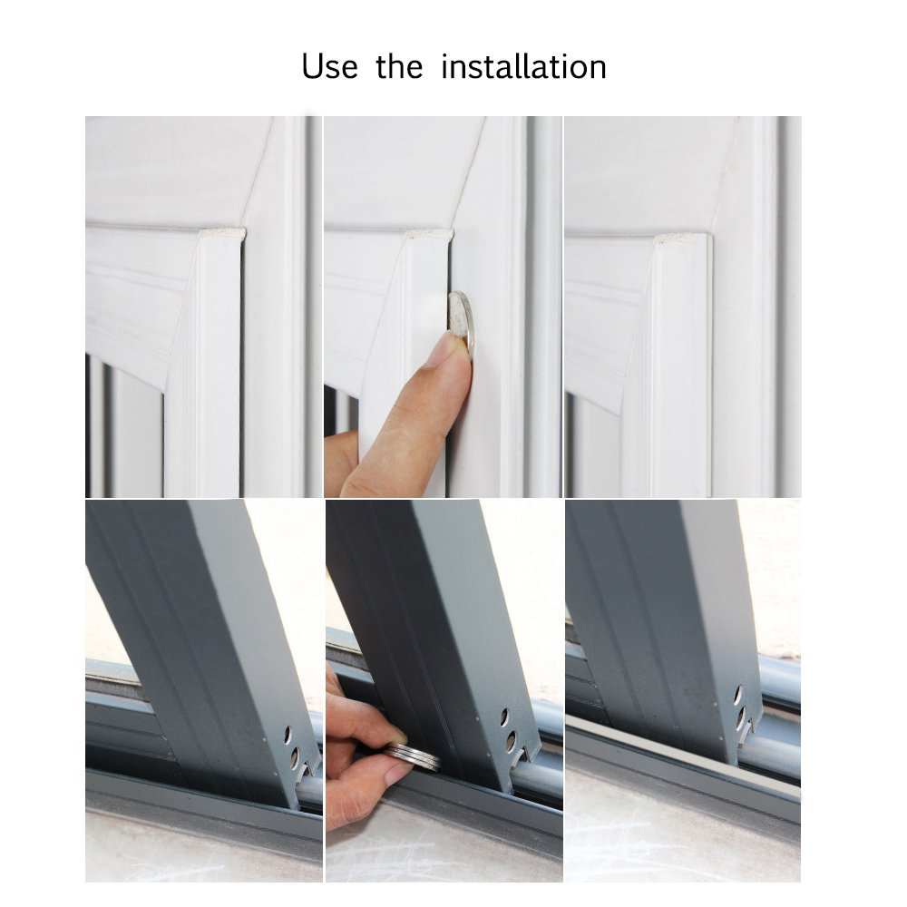 Hysagtek 2 Rolls Door Seal Foam Self-Adhesive EPDM Home Window Door Draught Rubber Excluder Foam Strip Seal Soundproofing Collision Avoidance Weatherstrip Seal,10 m in Total,9 x 6 mm,White D Shape