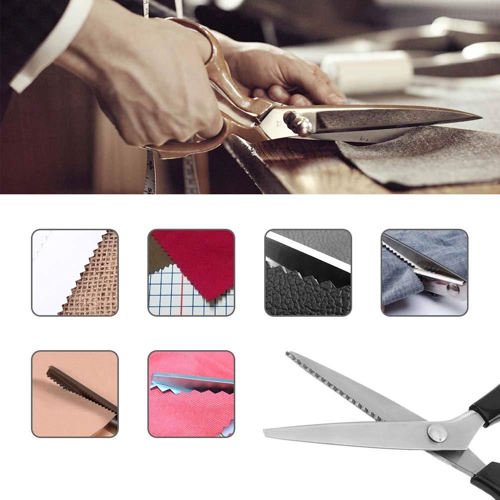tessuto decorativo rotondo Cesoia per cranter in acciaio inossidabile FTVOGUE triangolare bordo forbice su misura 7mm