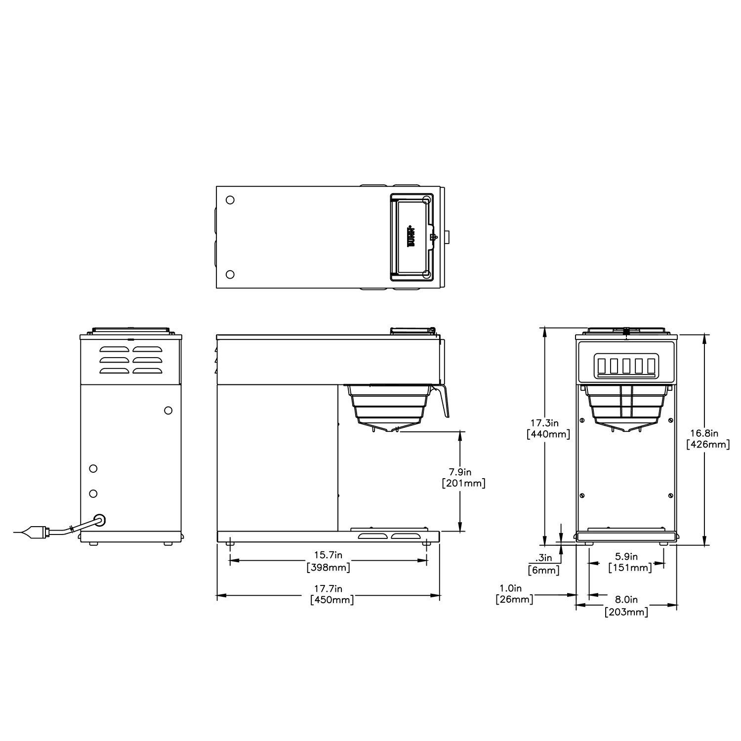 Bunn Commercial Coffee Maker Vp17 1 Pourover Stainless Steel Wire Diagrams Warmer 13300 0001 Business Industry Science