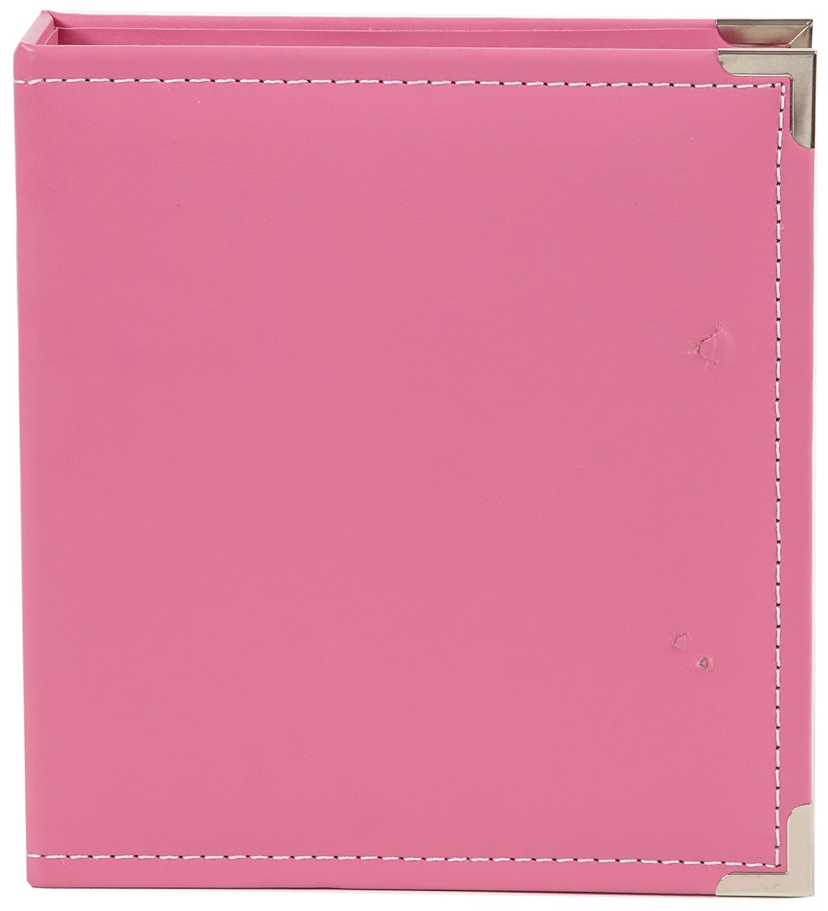 Simple Stories Faux Leather Binder, 6 by 8-Inch, Pink