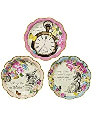 Talking Tables Truly Alice Dainty Party Plates, Multicolor