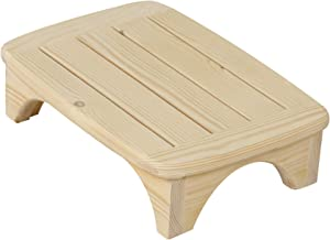 URFORESTIC Solid Wood Bed Step Stool Super Large/Bedside Steps for High Beds/Solid Wood Super Sturdy Hold Up to 500 LBS (Unfinished)