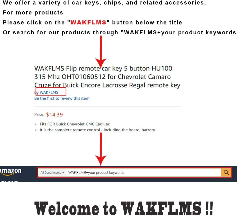 FCC GQ4-54T for Air Suspension Dodge Ram 1500 2500 3500 3 Buttons Smart Remote Car Key Fob 433MHz 4A Chip from WAKFLMS