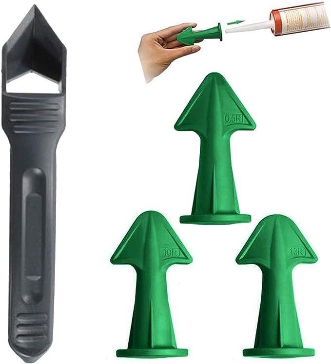 3Grout Scraper Caulk Nozzle Applicator Sealant Finishing Tool for Brick Joint/_US