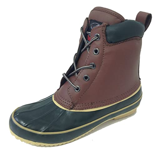 c9bd8062c40 G-9021SC Women's Duck Boots Leather Waterproof Thermolite Insulated Hiking  5-Eye Winter Shoes