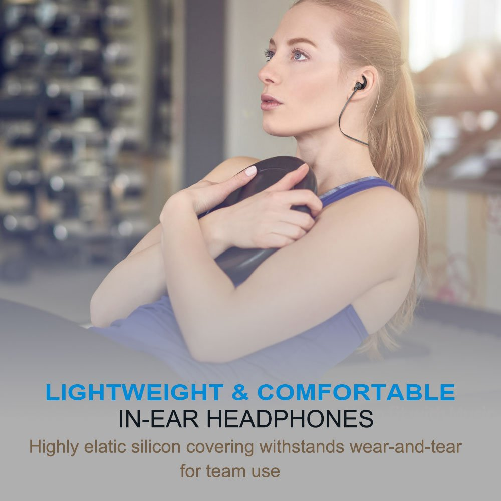 KUUFER Wireless Headphones, Bluetooth Earbuds with Magnetic Connection,6 Hours Play Time,Sport Headset with Mic,works with iPhone, iPad, Samsung, Nexus, HTC and More (Black)