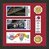 NCAA Alabama Crimson Tide Bcs Champions Ticket And Coin Frame, 17'' x 13'' x 4'', Bronze
