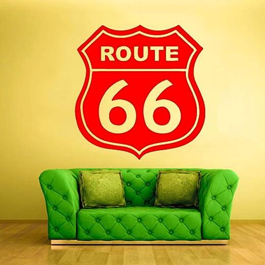 Señales de tráfico Calcomanía de pared Citas Ruta 66 Vinilo ...