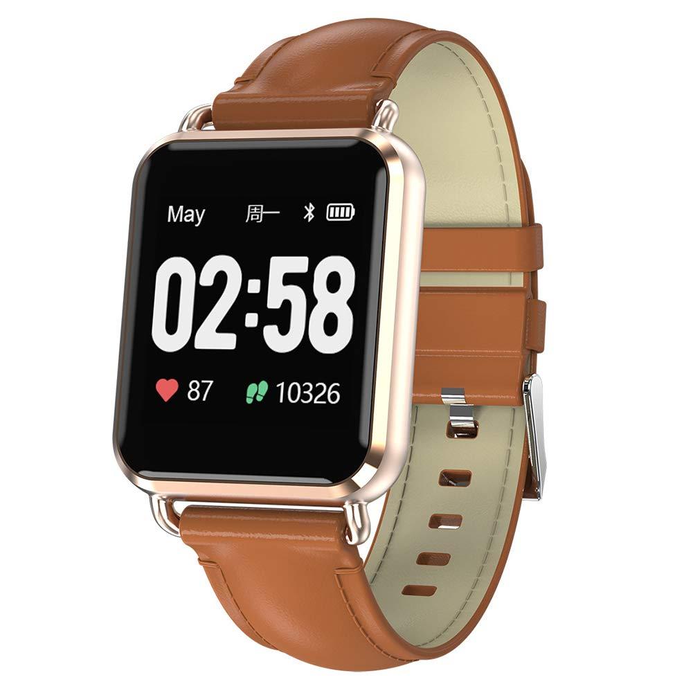 OOLIFENG Pulsera de Actividad Inteligente, Fitness Tracker Inteligente y Pantalla Color Pulsera Deportiva, Pulsómetro con Impermeable IP67 para iOS y Android,Black