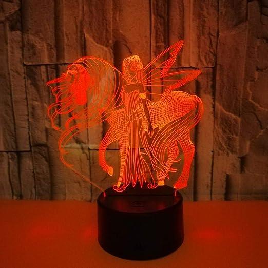 Zhengowen Luces de Noche para niños USB LED Modelo de luz 3D ...