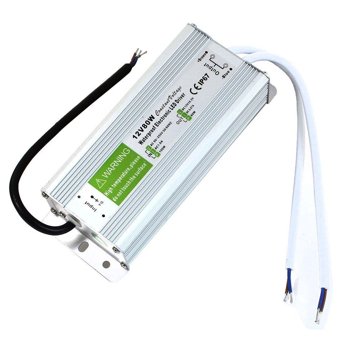 JOYLIT 80W Waterproof Superior Quality Aluminum Alloy LED Power Supply Driver LED Transformer 110-240V to 12V DC Output
