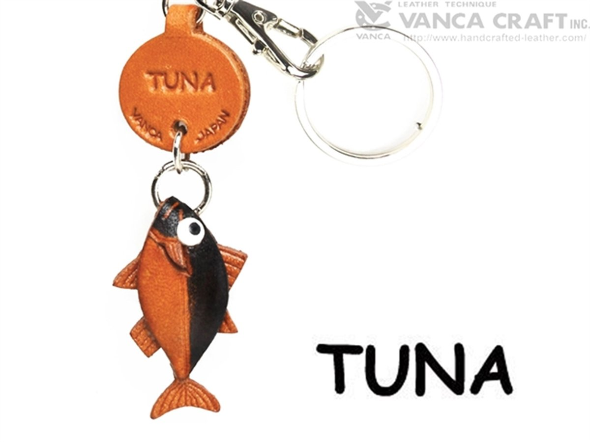 Amazon.com  Genuine 3D Leather Tuna Japanese Leather Keychains Fish. Made  by skillful craftsmen of VANCA CRAFT in Japan.  Toys   Games 2f980b0ace93