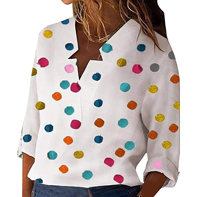 Womens Summer Tops 2020.Amazon Com Feisi22 2019 Women Loose Casual Polka Dot