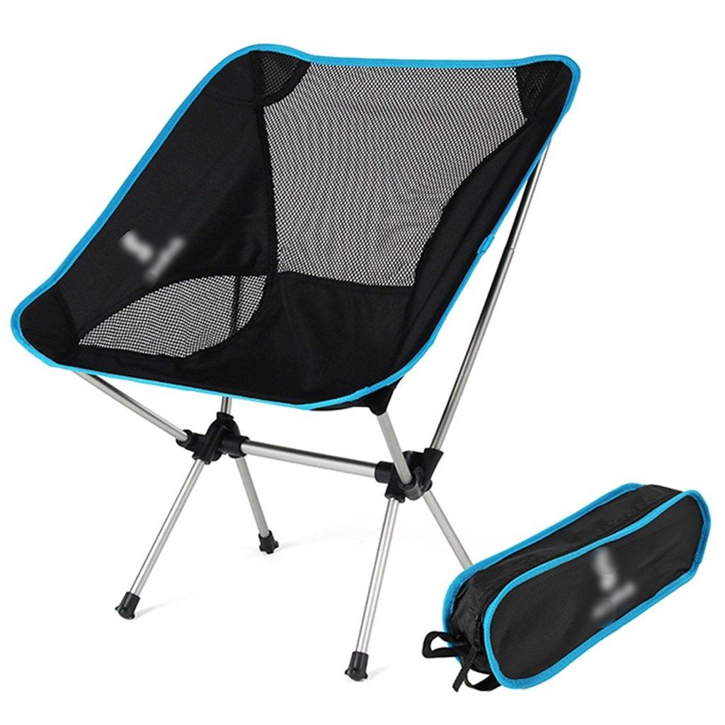 ZGL 旅行椅子 屋外折りたたみチェアポータブルビーチカジュアルチェア折りたたみ釣り用スツール背もたれ椅子屋外椅子の色オプション ( 色 : 青 ) B07C77BNB8 青 青