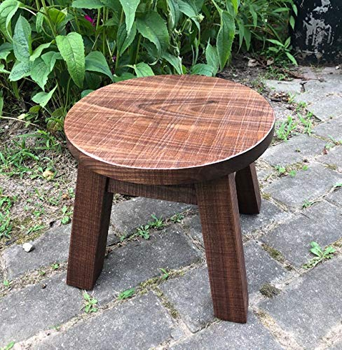 Peachy Solid Black Walnut Step Stool Farmhouse Foot Stool Modern Rustic Wood Step Stool Round Top Stool Riser 8 10 12 High Unemploymentrelief Wooden Chair Designs For Living Room Unemploymentrelieforg