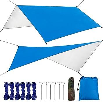 FILWO toldo de camping lona impermeable protección UV toldo tienda de campaña refugio tienda de playa