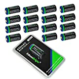 16 Pack EdisonBright type 16340 EBR65 rechargeable CR123A RCR123A 3.7v protected li-ion batteries