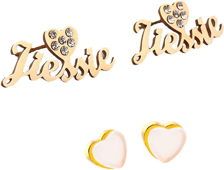 Engraved Infinity Name Earrings Stone Dangle Earrings Gift Her Personalized Drop Earrings for Women and Girls Birthstone Name Earrings