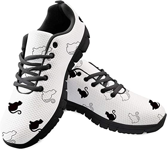 Gopumchy - Zapatillas de Running para Mujer, con Suela Negra, Transpirables, con Malla: Amazon.es: Zapatos y complementos