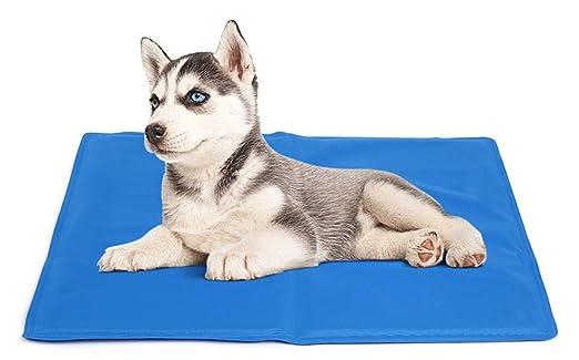 DZL Manta refrescante para perro 90*50CM,Manta enfriador para mascotas. Reduce la sensación térmica corporal