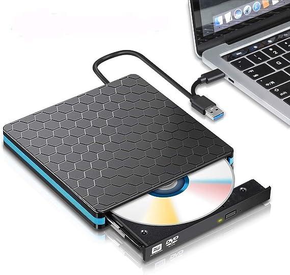 外部のBlu-rayドライブ、ポータブルブルーレイ、ホームオフィス用ブルーレイDVDプレーヤー (Color : Black)