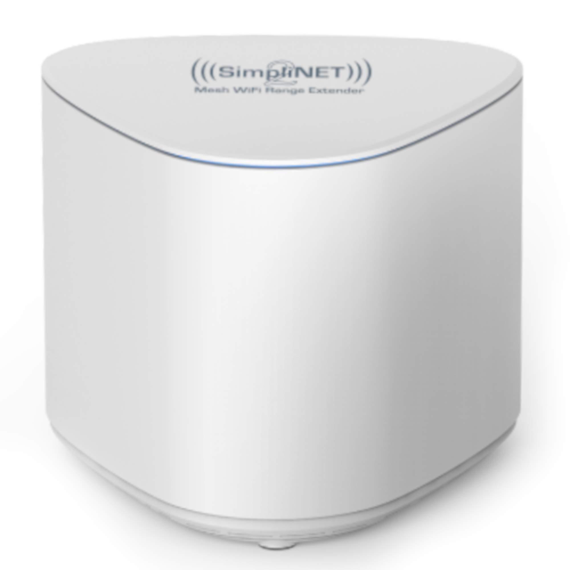 SimpliNET2 Whole Home AC2100 Mesh WiFi Range Extender with Firewall Network Defense by SimpliNET