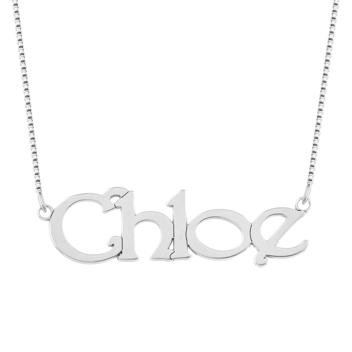 Personalized Name Necklace Any Name Necklace Customized Name Necklace In 925 Sterling Silver
