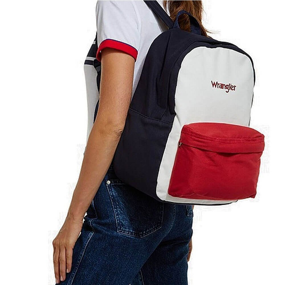 1474ecab5f2 Wrangler Backpack Retro Block Colour Rucksack: Amazon.co.uk: Shoes & Bags
