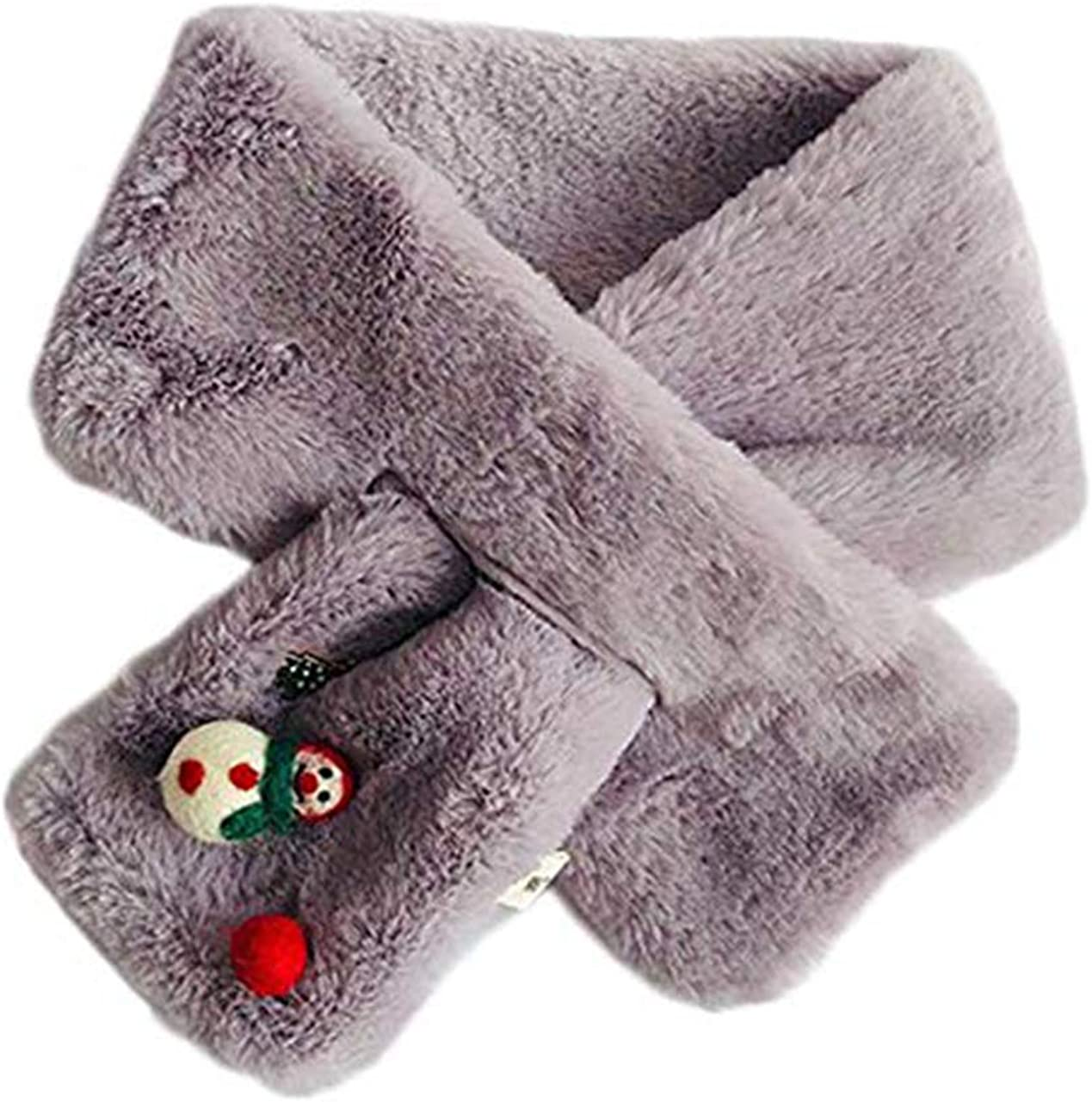 Unisex Kids Warm Neck Scarves Soft Furry Loop Scarf One Size Fits Most for Toddlers Little Kids Big Kids Christmas Gift