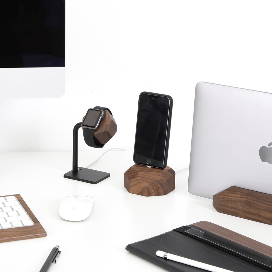 Woodcessories - Docking Station Compatible with Apple Watch Series (1, 2, 3, 4) of Real Wood, EcoDock Watch EDT. (Oak) by Woodcessories (Image #6)