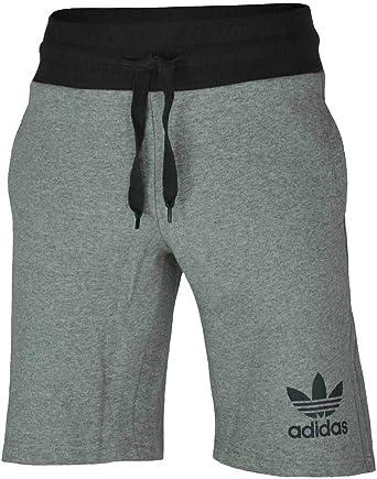 adidas Sport ESS Short Originals Hombres Pantalones Cortos Trefoil Fitness Gris, Tamaño:S: Amazon.es: Ropa y accesorios