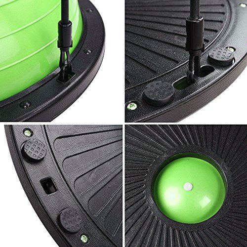 Triprel Inc Home Gym Stability Fitness Workout Yoga Pilates Balance Trainer Exercise Half Ball Lime Green