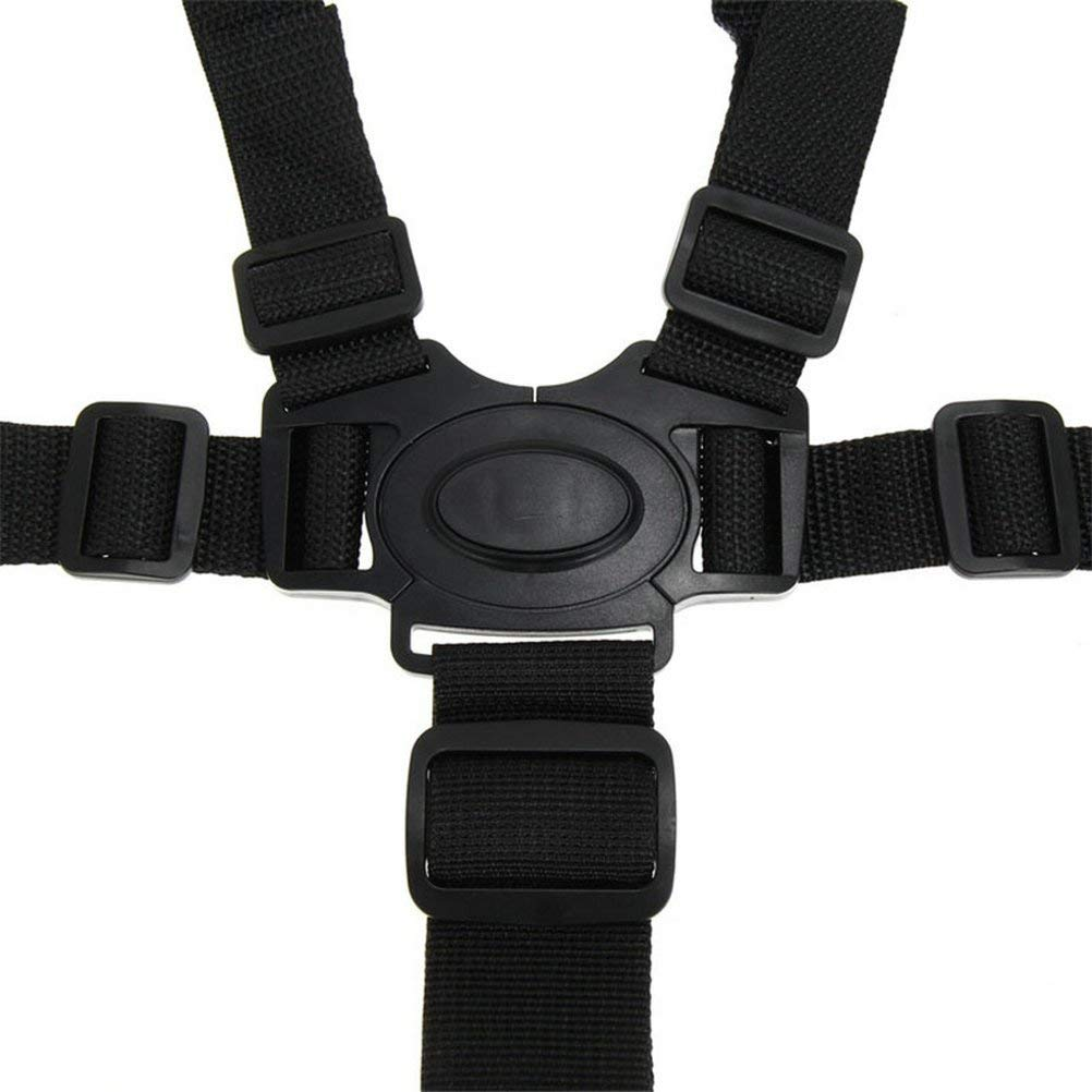 High Chair Straps, Universal High Chair 5 Point Seat Belt/Straps / Harness/Replacement for Wooden High Chair Stroller Pushchair Wfortune