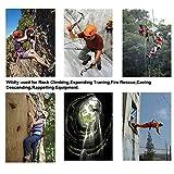 Winnas Thicken Climbing Harness, Tree Wall Mountain Climbing Gear, Protect Waist Safety Rock Climbing Harness for Fire Rescuing Rock Climbing Rappelling