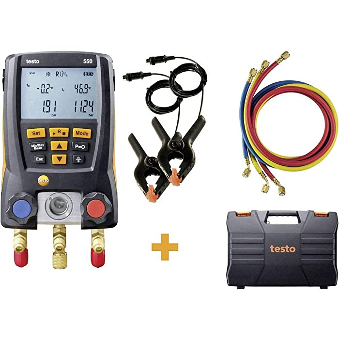 Testo 550 Hoses - Digital Manifold Kit with Bluetooth and Set of 3 Hoses