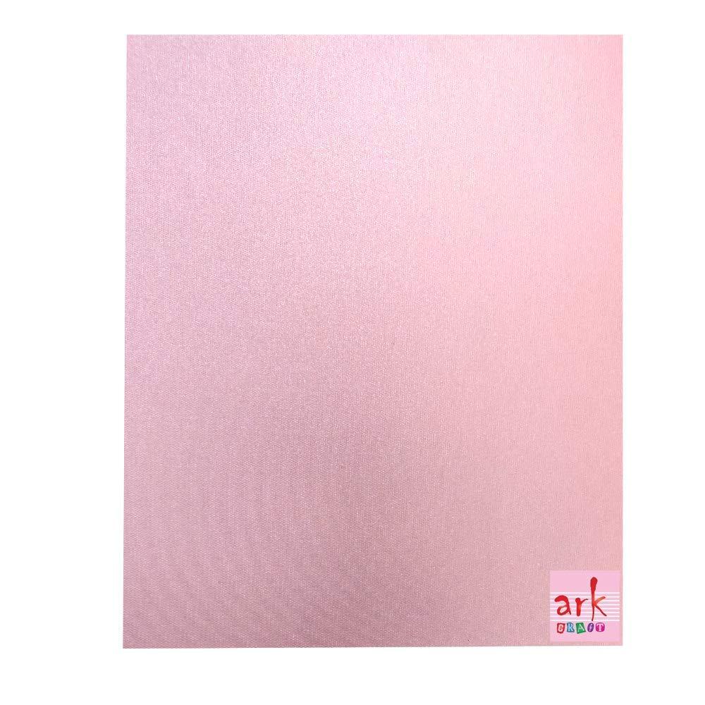 220 g//mq. colore rosa perlato effetto lino 10 cartoncini formato A3