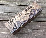 Mountain scene custom personalized wine box