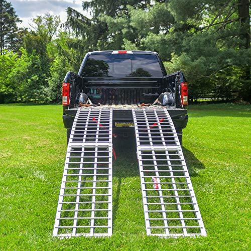 EmpireCovers Aluminum Folding ATV/UTV Ramp - 7.5' Long, 2,000 lb Weight Capacity (Sold as Pair) by EmpireCovers (Image #2)