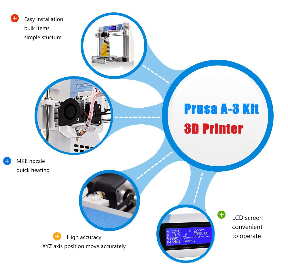 61QXPjFkQvL._SL1000_ jgaurora 3d printer prusa i3 diy 3d printers kit self assembly  at gsmx.co