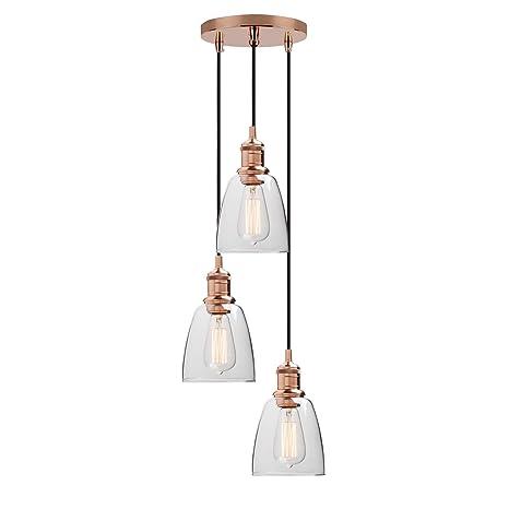 3 Light Vintage Industrial Pendant Lamp Yosoan Kitchen